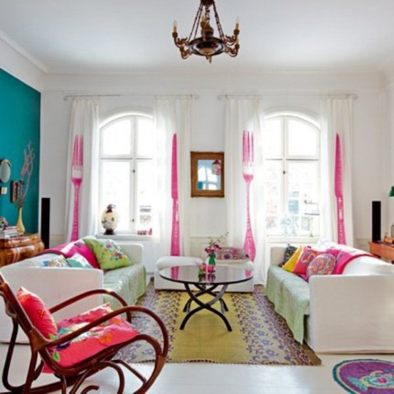 House design and interior houses with a blend of bright - Decora tu salon ...