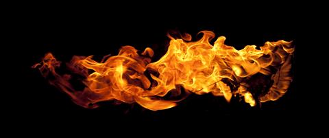 efek teks api