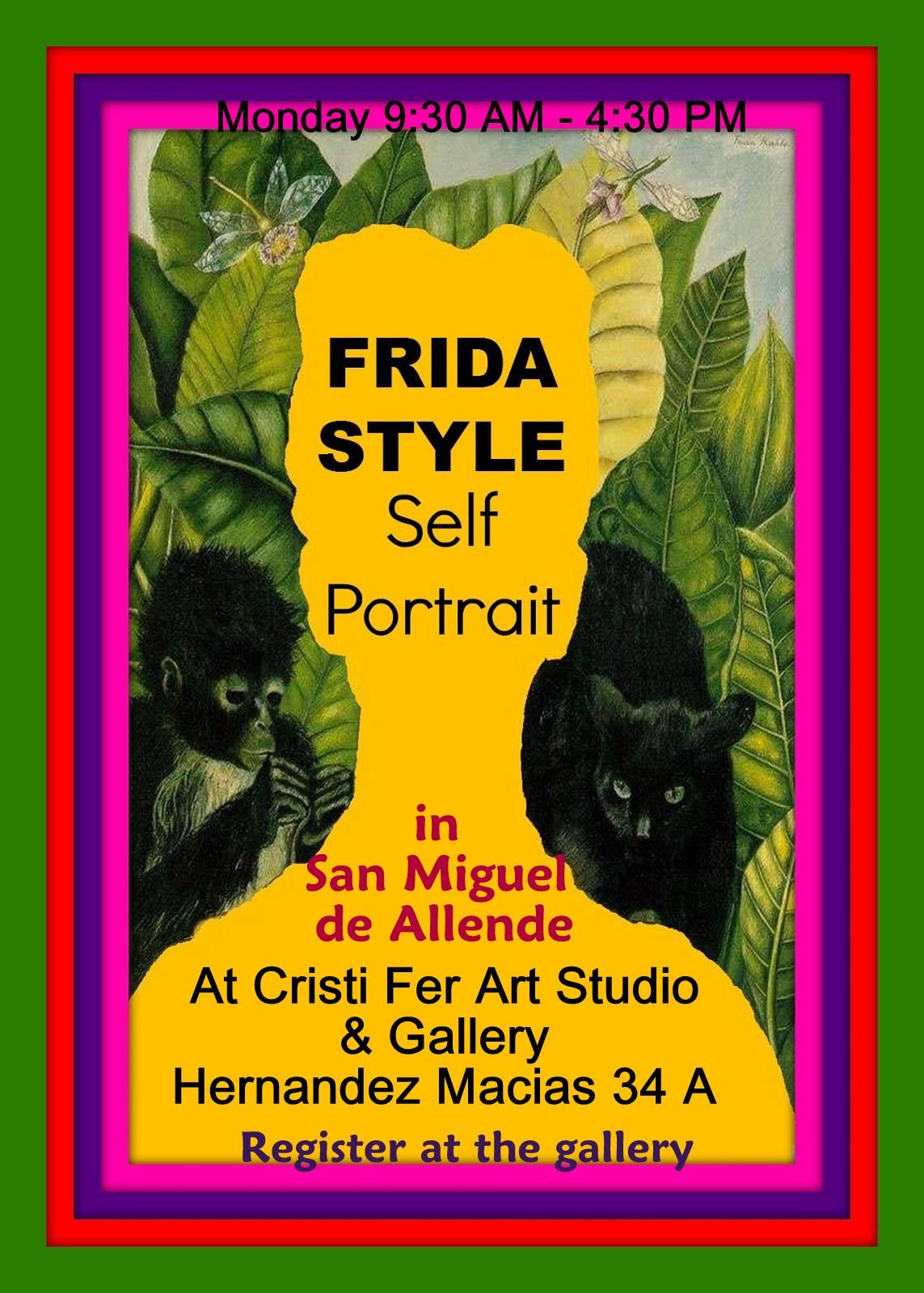 Frida Style Self Portrait