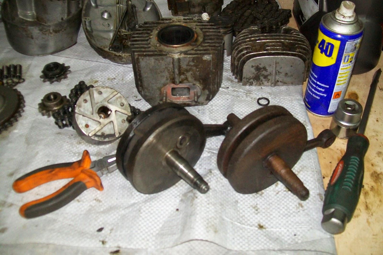 Jawa części silnika