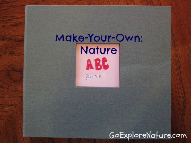 Make your own: Nature ABC book