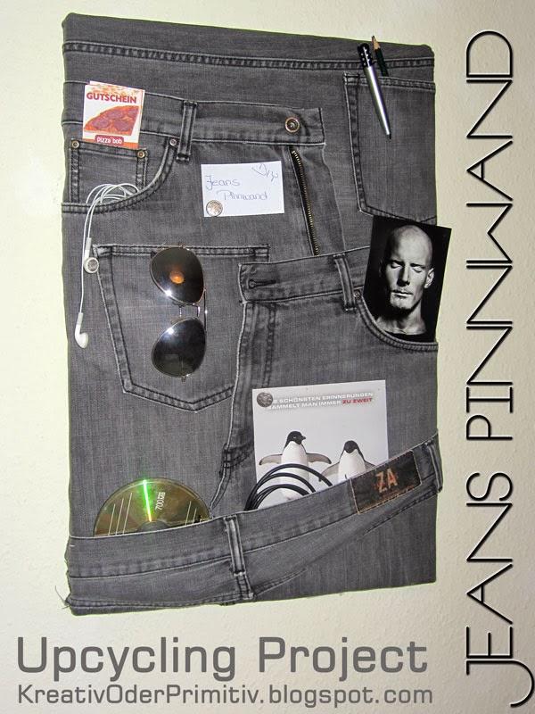 kreativ oder primitiv jeans pinnwand. Black Bedroom Furniture Sets. Home Design Ideas