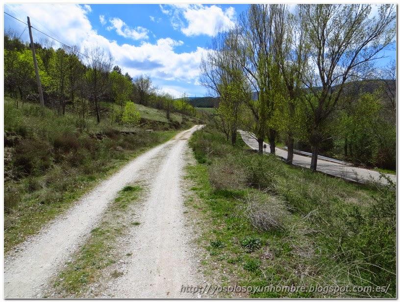 Camino paralelo a la carretera