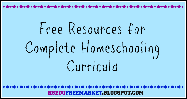Free Resources for Complete Homeschooling Curricula - HSEduFreeMarket