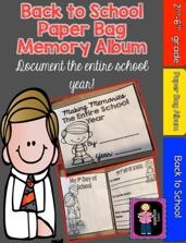 https://www.teacherspayteachers.com/Product/Back-to-School-Paper-Bag-Memory-Album-Document-the-Whole-Year-721175