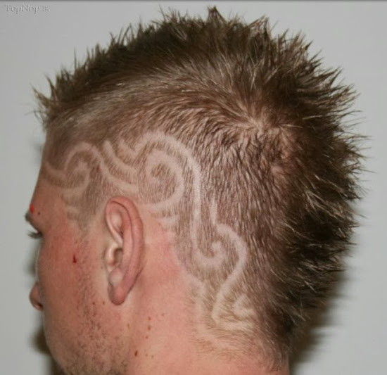 Weird designs on hair