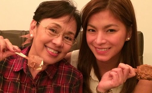 Angel Locsin with Vilma Santos and family