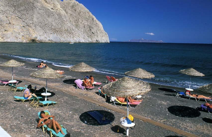 Playa de Perissa, Santorini, Grecia