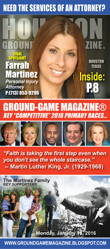 PERSONAL INJURY ATTORNEY FARRAH MARTINEZ FEATURED ON THE COVER OF GROUND GAME MAGAZINE