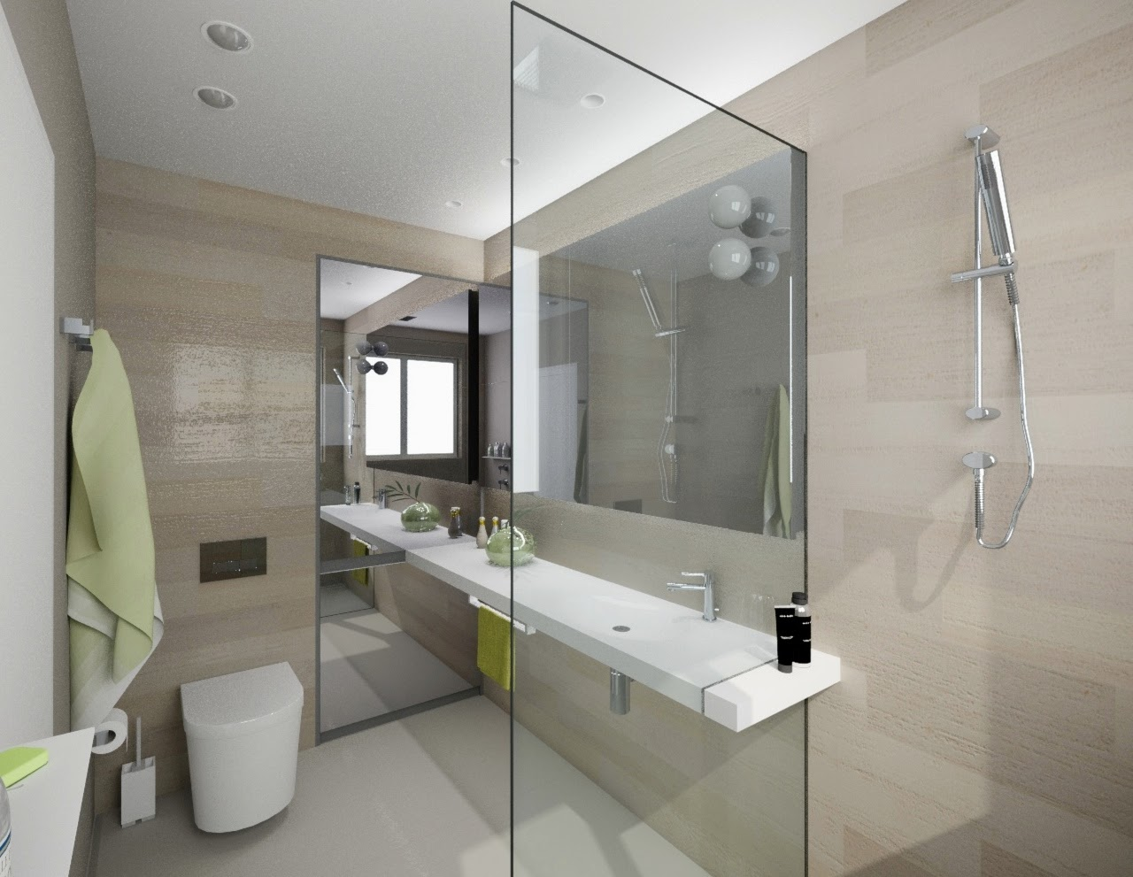 modern bathroom design. black bathroom fixtures and decor keeping