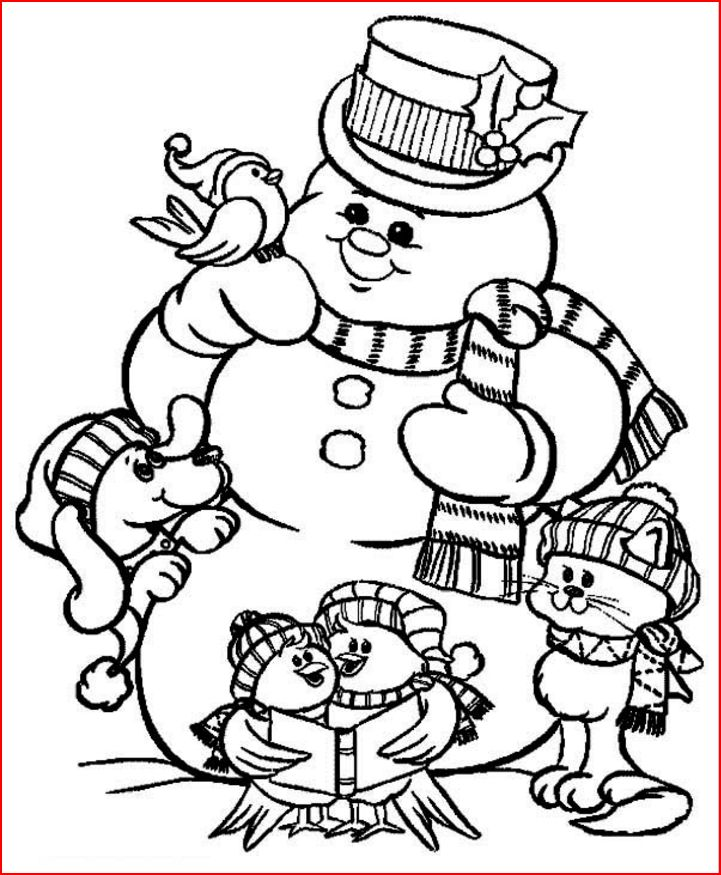 Coloring Pages Christmas Snowman