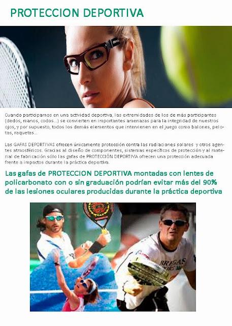 imagen que resalta la importancia de las gafas de protección deportiva