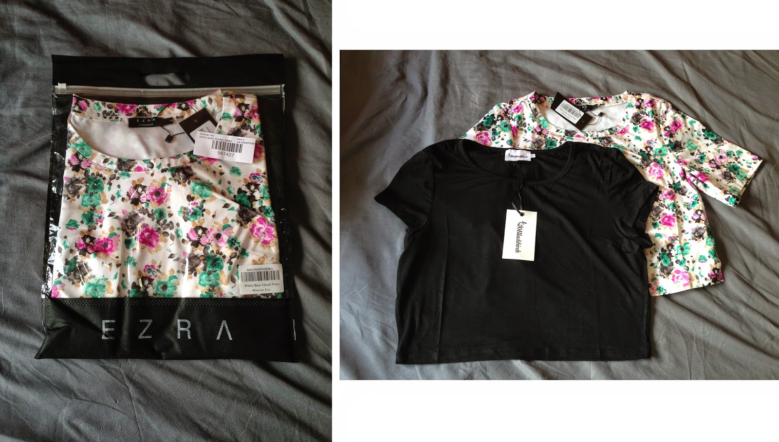 Floral Woven Tee by Ezra & Scoop Crop Tee by 1&20 Blackbirds