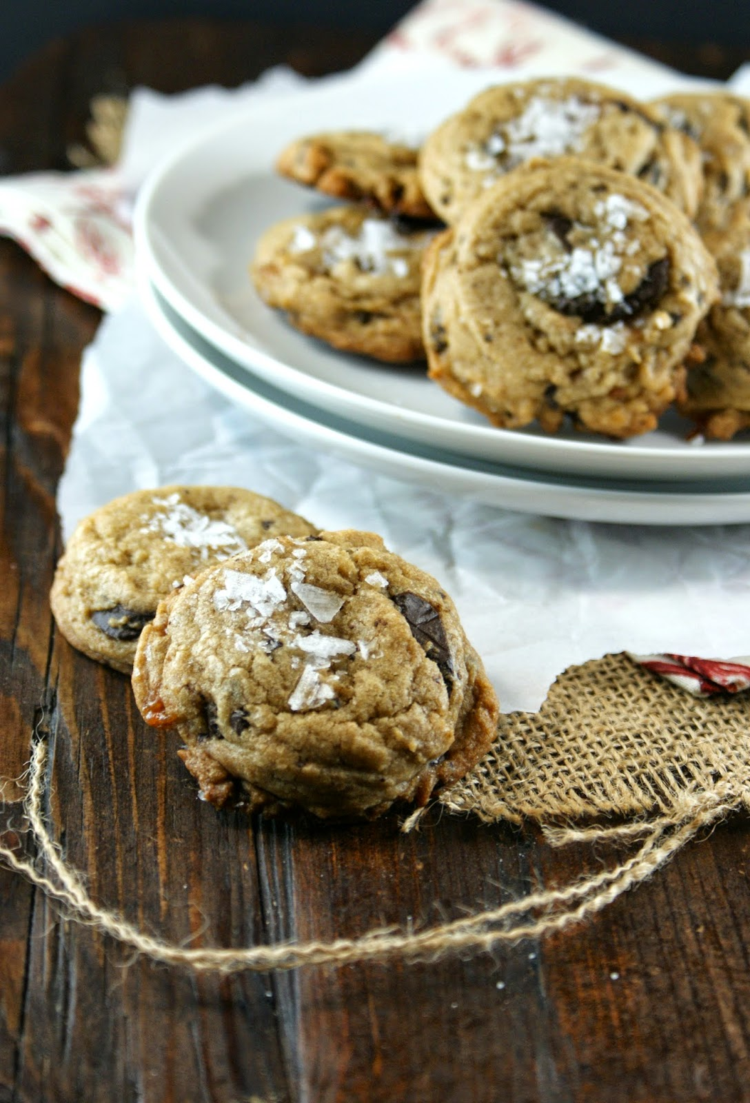 Authentic Suburban Gourmet: Salted Caramel and Chocolate Chunk Cookies