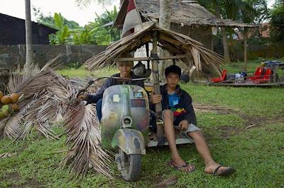 Old Vespa in Indonesia