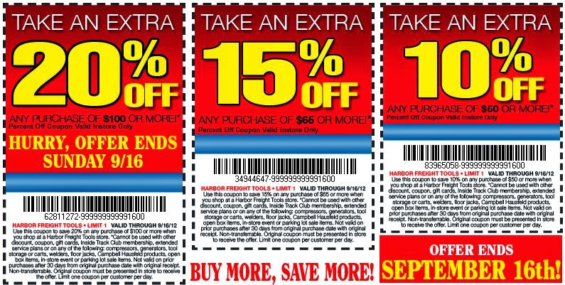 Harbor freight march coupons
