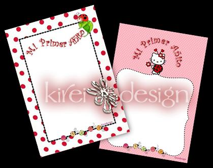 kireidesign: Plantilla invitación Primer Año