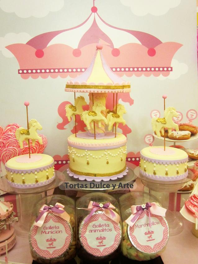 nuevo modelo de torta de carrucel infantil lima peru 1