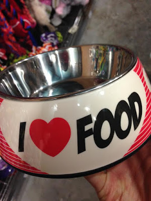 I love food cute dog bowl
