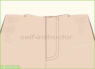 шлиц за закопчаване с цип на панталон