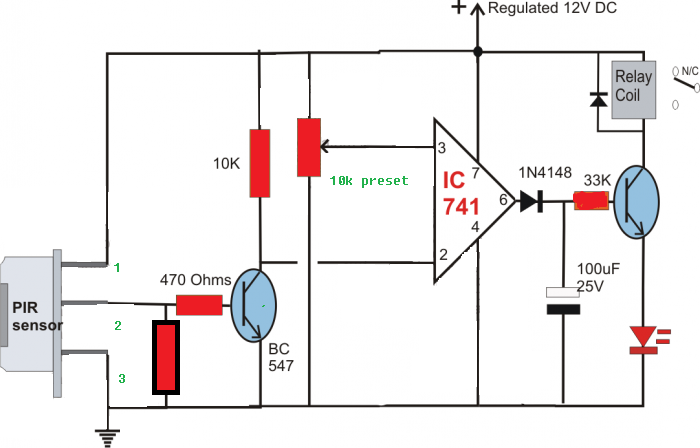 build a passive infrared sensor circuit diagram electronic circuits diagram
