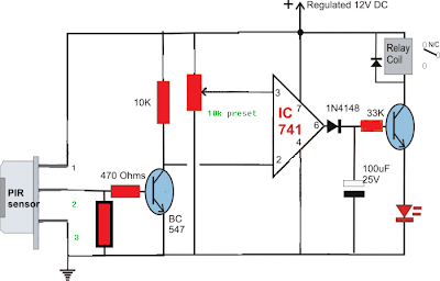 electronics projects build a passive infrared sensor circuit simple circuit diagram using pir sensor