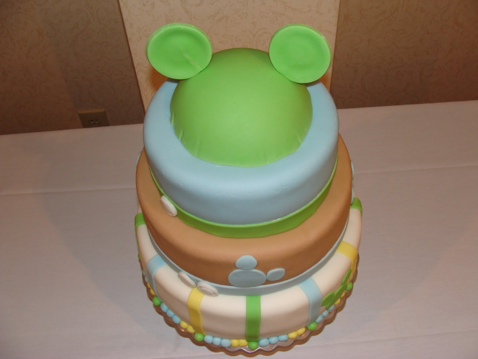Baby Mickey Mouse Edible Cake Decorations Mickey Mouse Baby Shower Cakes Mickey Mouse Baby Showers
