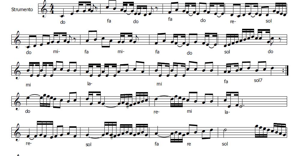 Musica e spartiti gratis per flauto dolce samba brasiliana per flauto dolce - Aggiungi un posto a tavola accordi ...
