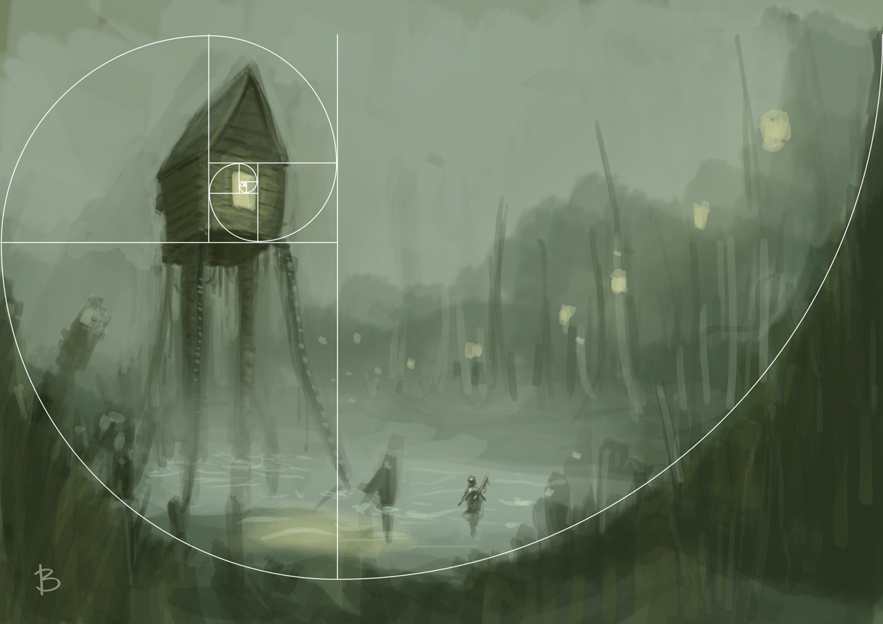 Art of artyom semenov baba yaga 39 s swamp speed painting for Golden ratio artwork
