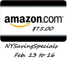 amazon+gift+card $75 Amazon Gift Card Giveaway! (Feb. 13th   Feb. 16th)