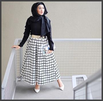 Busana Muslim Warna Hitam Khas Dian Pelangi Model Baju