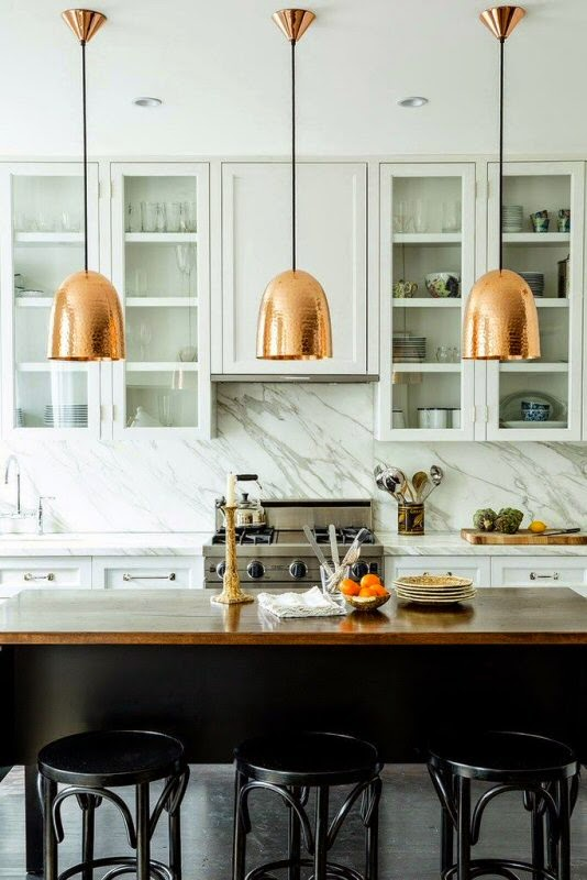 kitchen inspiration marble copper