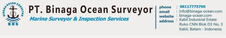 jika anda membutuhkan jasa marine surveyor, silahkan hubungi PT. Binaga Ocean Surveyor