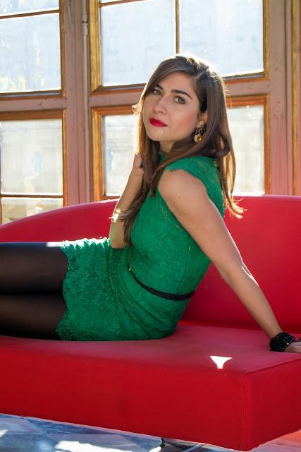 gemma contini verde vestito torino