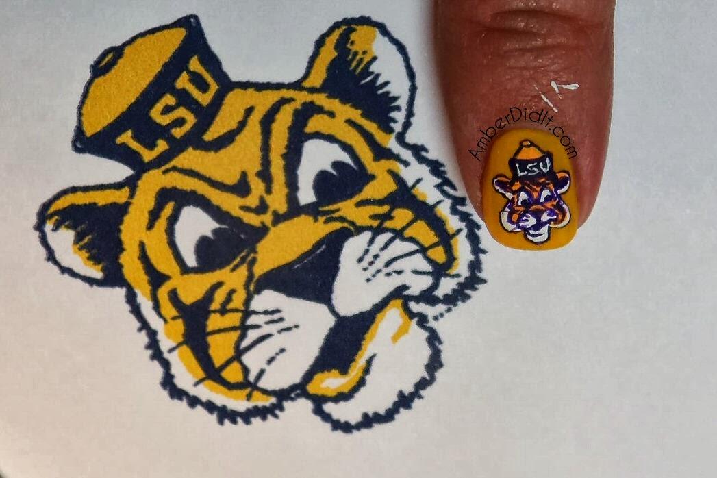Amber did it!: Geaux Tigers! LSU Nail Art