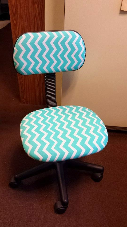 DIY Chevron fice Chair