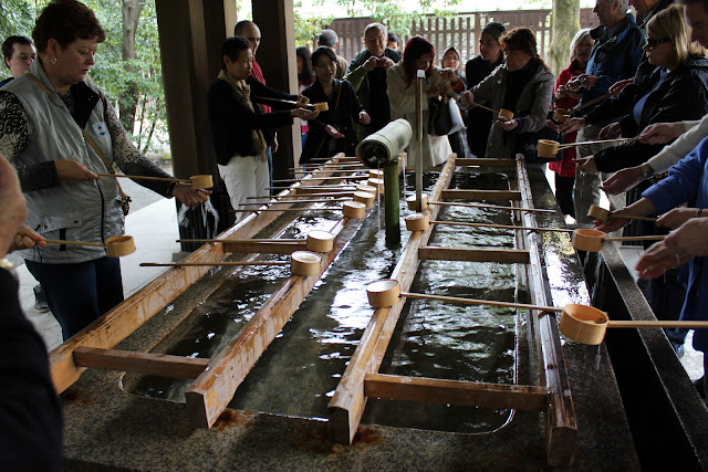 Water font(Temizuya) at Meiji shrine
