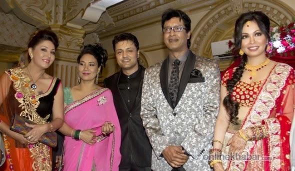 rajesh hamal and madhu bhattarai wedding, karishma manandhar