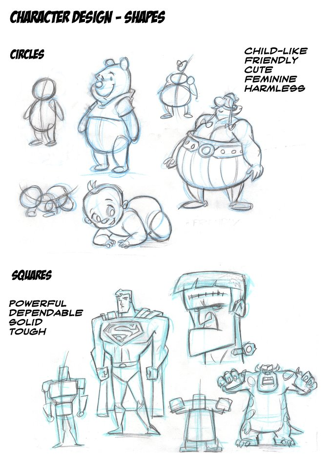 Character Design Basic Shapes : Oliver nicholls creative works using basic shapes