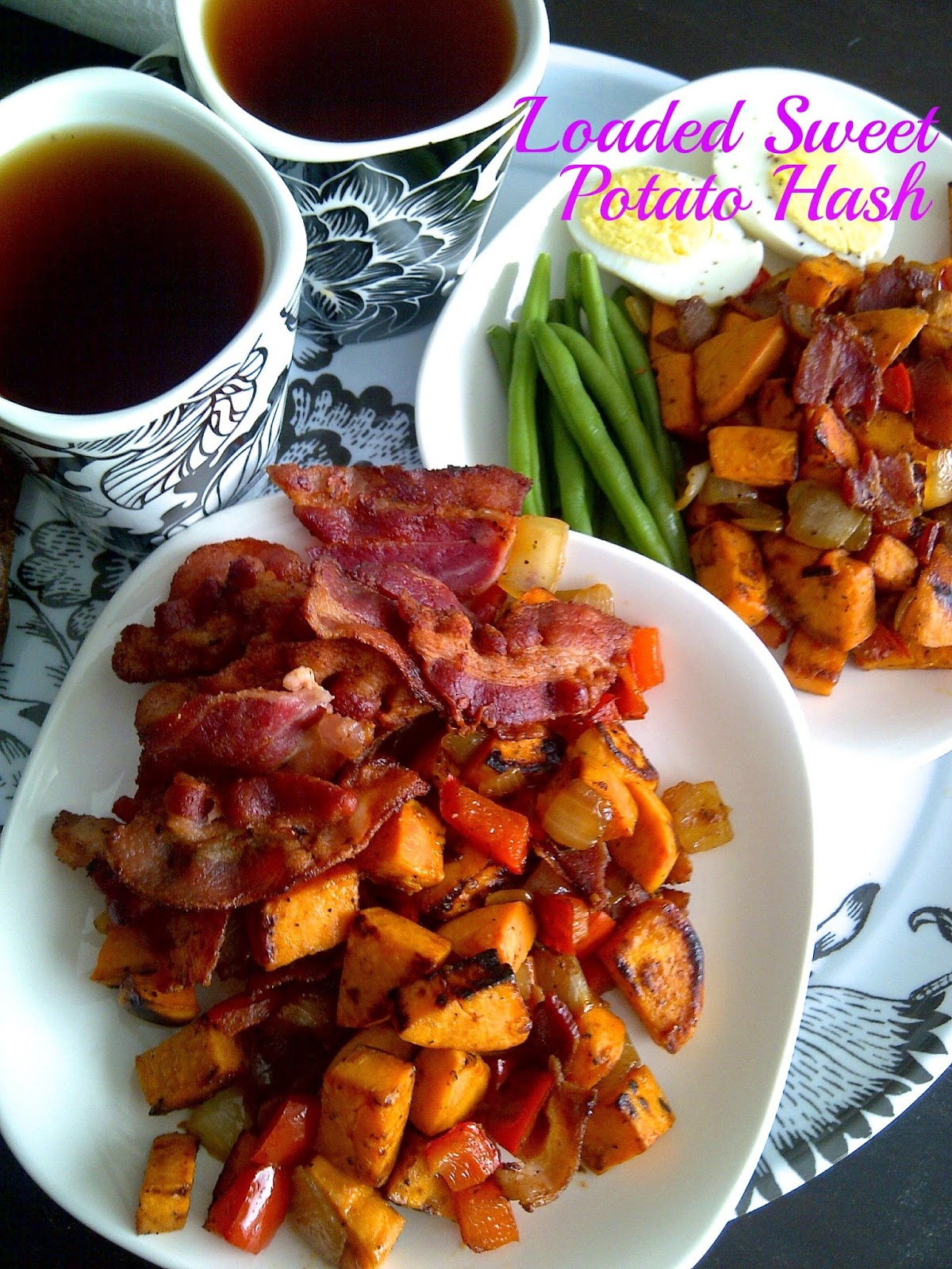 Loaded Sweet Potato Hash  **make sure your bacon is GF**