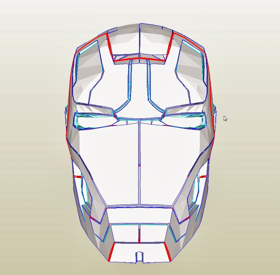 Dali lomo iron man mark 42 costume helmet diy cardboard for Cardboard armour template