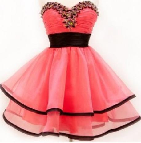 Vestidos de fiesta en color coral para ninas