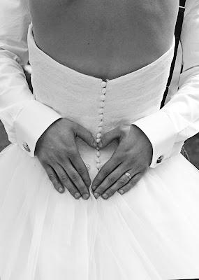 Wedding Heart Black & White