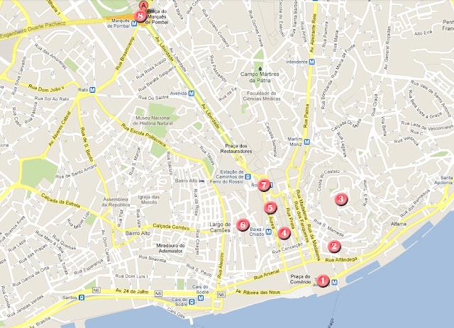 Ruta por Lisboa, día 1
