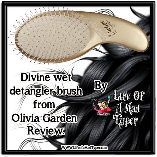 Divine wet detangler brush from Olivia Garden