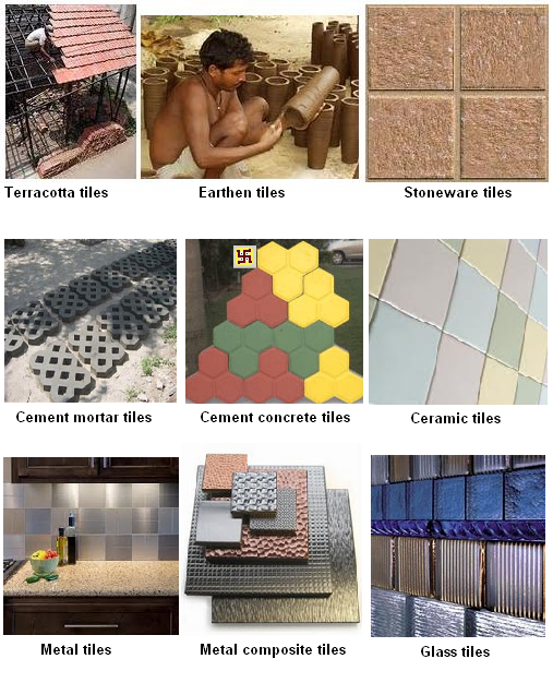 DIFFERENT TYPES OF TILES COMMONLY USED THROUGHOUT THE WORLD