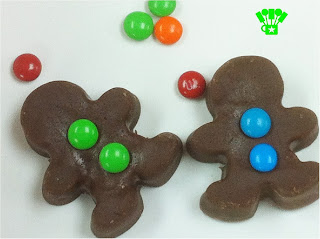 Gingerbread Man with candy buttons for your hot chocolate