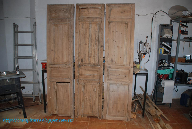 Casas de pizarra cabecero de cama con cuarterones antiguos - Cabeceros de cama antiguos ...