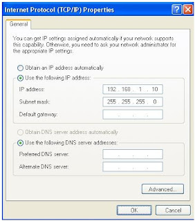 Pengisian Alamat IP (IP Address)