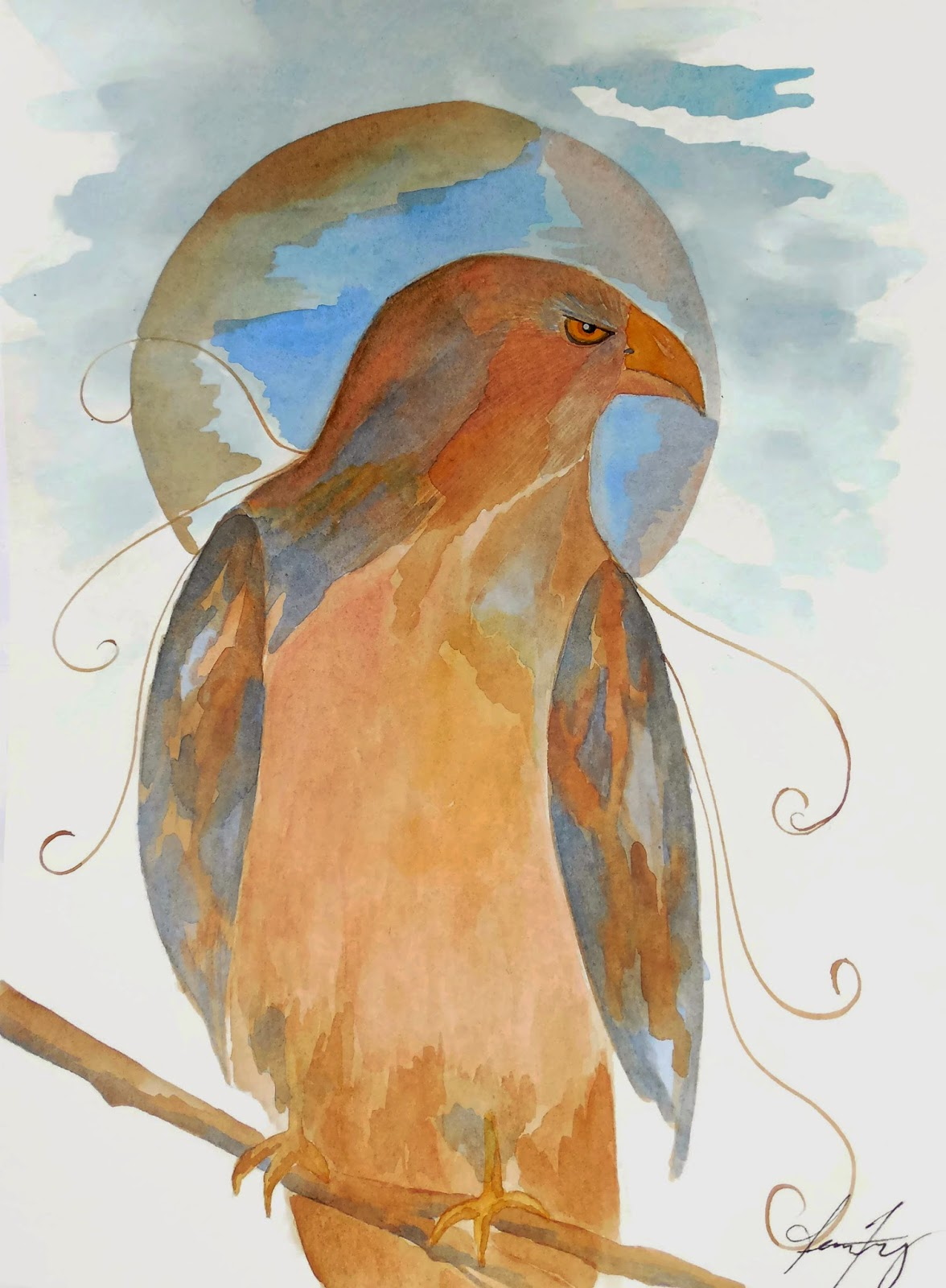 Conscious Art Studios Red Tailed Hawk His Spirit And Symbolic Meaning